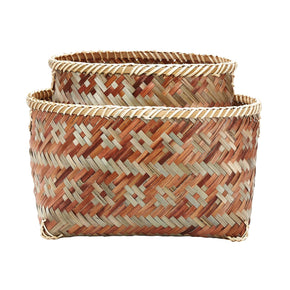 S/2 Woven Brown Sage Tonal Baskets Basket