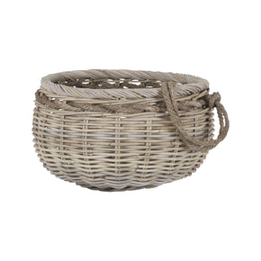Sumbawa Natural Rattan Basket - Small Rattan,grey