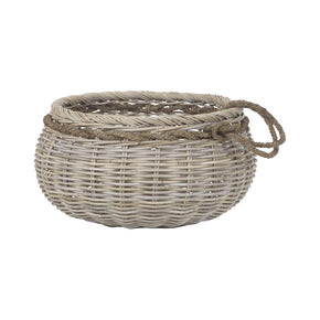 Sumbawa Natural Rattan Basket - Large Rattan,grey