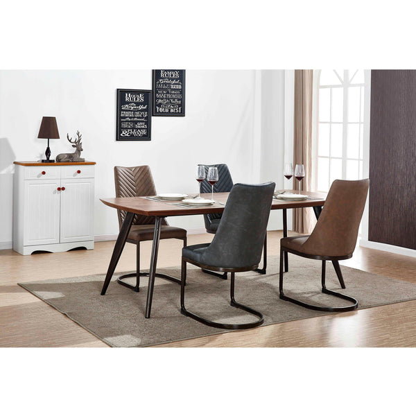 Kyla PU Leather Chair (Set of 2) Element Brown