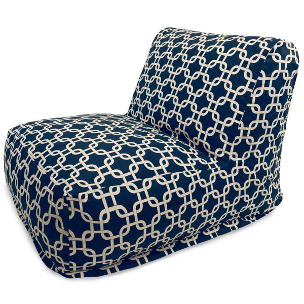 Navy Blue Links Bean Bag Chair Lounger