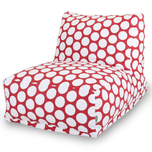 Red Hot Large Polka Dot Bean Bag Chair Lounger