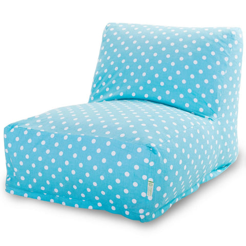 Bean Bag Chairs - Majestic Home 85907210329 Aquamarine Small Polka Dot Bean Bag Chair Lounger | 859072103290 | Only $138.80. Buy today at http://www.contemporaryfurniturewarehouse.com
