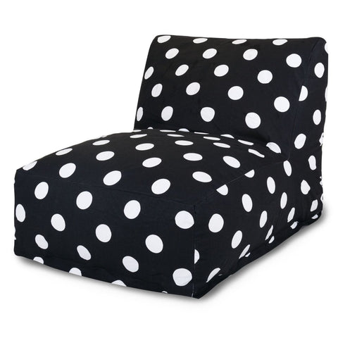 Black Large Polka Dot Bean Bag Chair Lounger