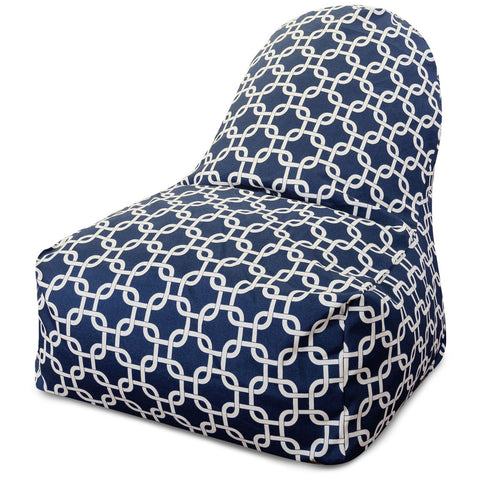 Navy Blue Links Kick-It Chair Bean Bag