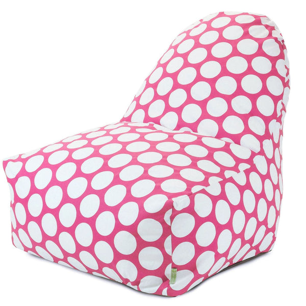 Hot Pink Large Polka Dot Kick-It Chair Bean Bag