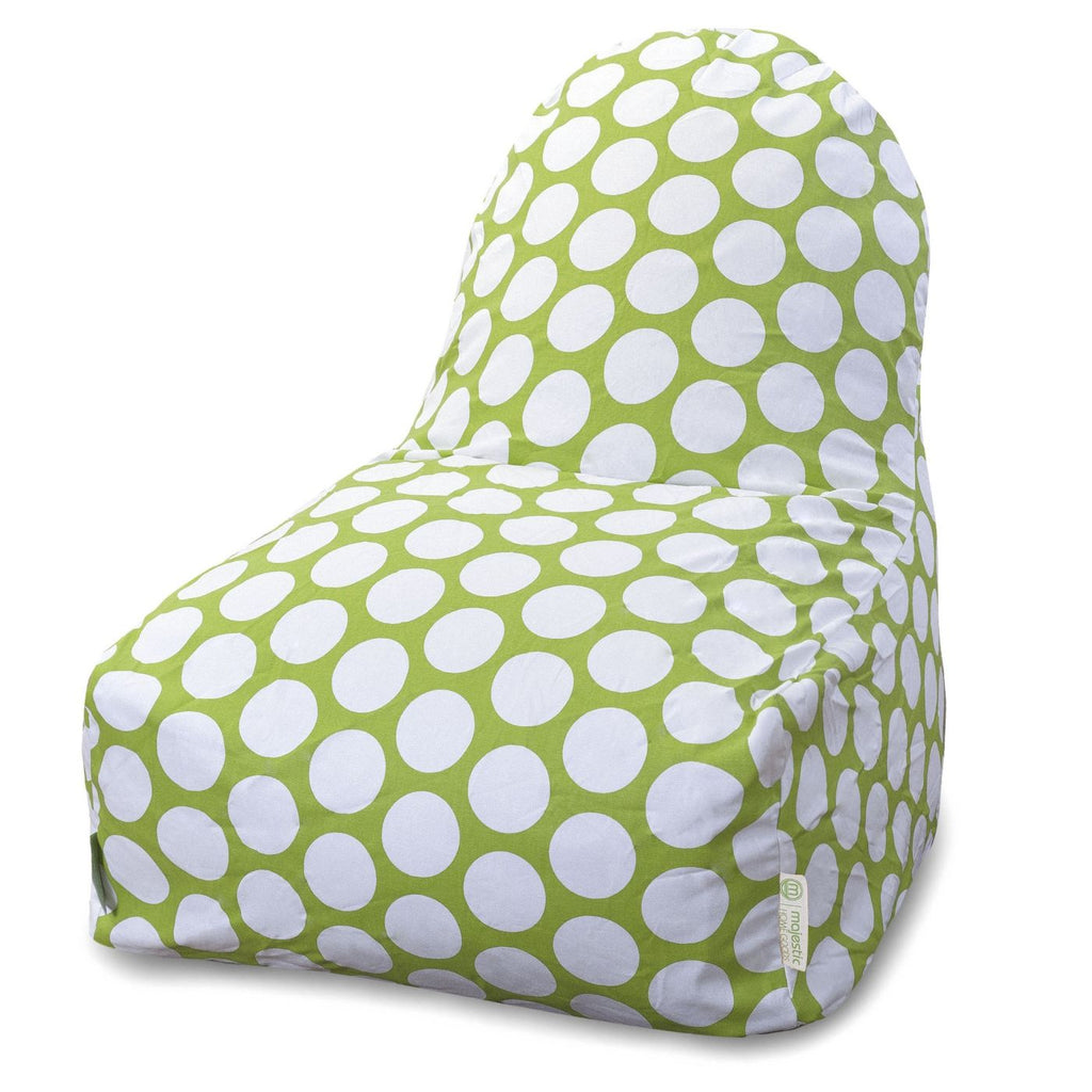 Hot Green Large Polka Dot Kick-It Chair Bean Bag