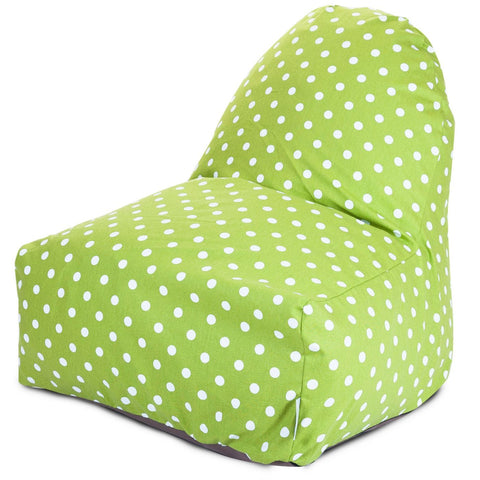 Lime Small Polka Dot Kick-It Chair Bean Bag