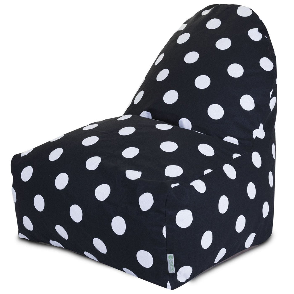 Black Large Polka Dot Kick-It Chair Bean Bag