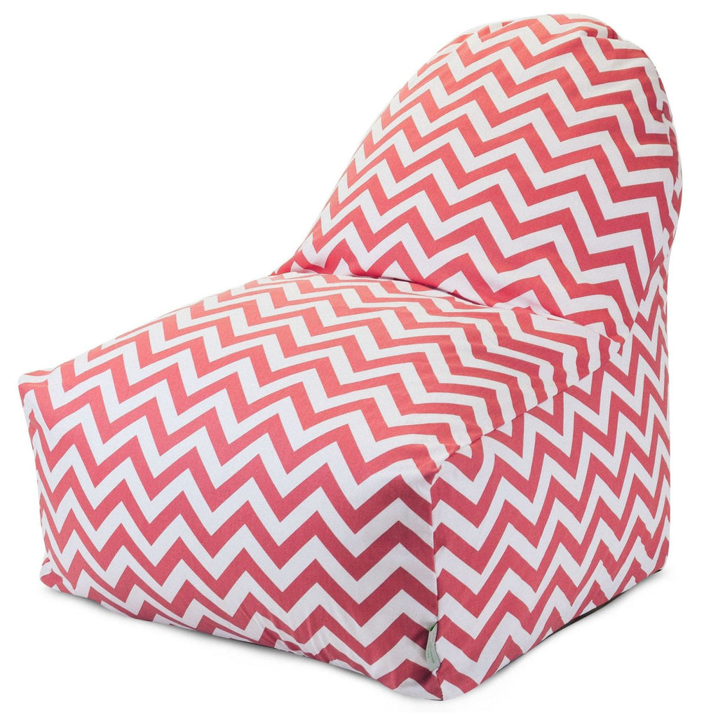 Coral Chevron Kick-It Chair Bean Bag