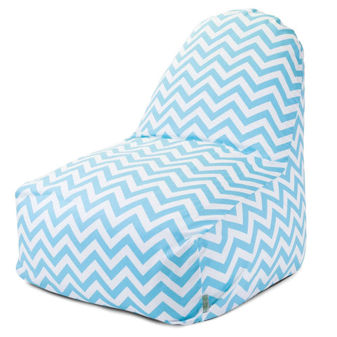 Tiffany Blue Chevron Kick-It Chair Bean Bag