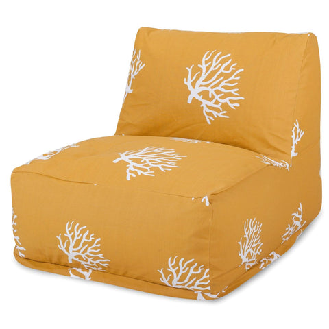 Yellow Coral Bean Bag Chair Lounger