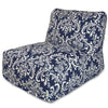Navy Blue French Quarter Bean Bag Chair Lounger