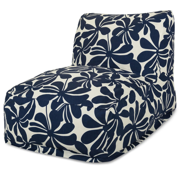 Navy Blue Plantation Bean Bag Chair Lounger