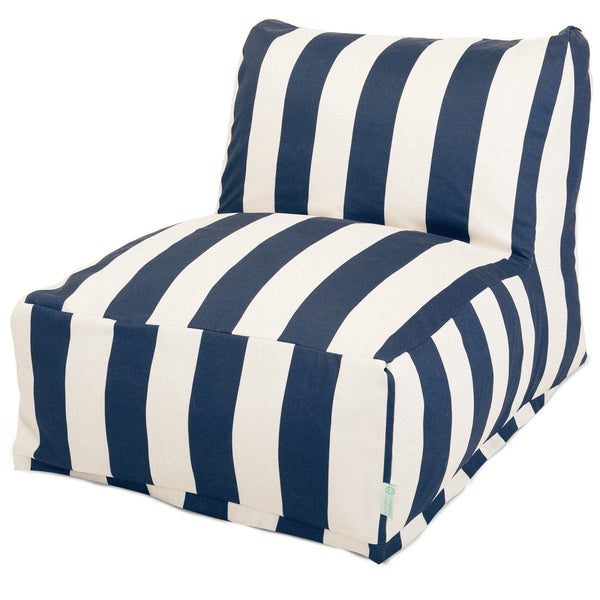 Majestic Home Navy Blue Vertical Stripe Bean Bag Chair