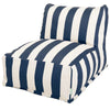 Bean Bag Chairs - Majestic Home 85907220322 Navy Blue Vertical Stripe Bean Bag Chair Lounger | 859072203220 | Only $138.80. Buy today at http://www.contemporaryfurniturewarehouse.com