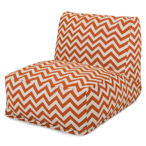 Burnt Orange Chevron Bean Bag Chair Lounger