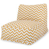 Yellow Chevron Bean Bag Chair Lounger