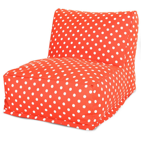 majestic home 85907220372 orange ikat dot bean bag chair lounger 859072203720 bean bag chairs. Black Bedroom Furniture Sets. Home Design Ideas