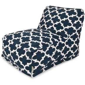Navy Trellis Bean Bag Chair Lounger
