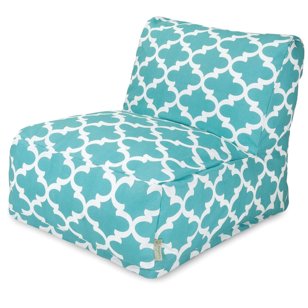 amazing deal on majestic home 85907220391 teal trellis bean bag chair lounger at contemporary. Black Bedroom Furniture Sets. Home Design Ideas