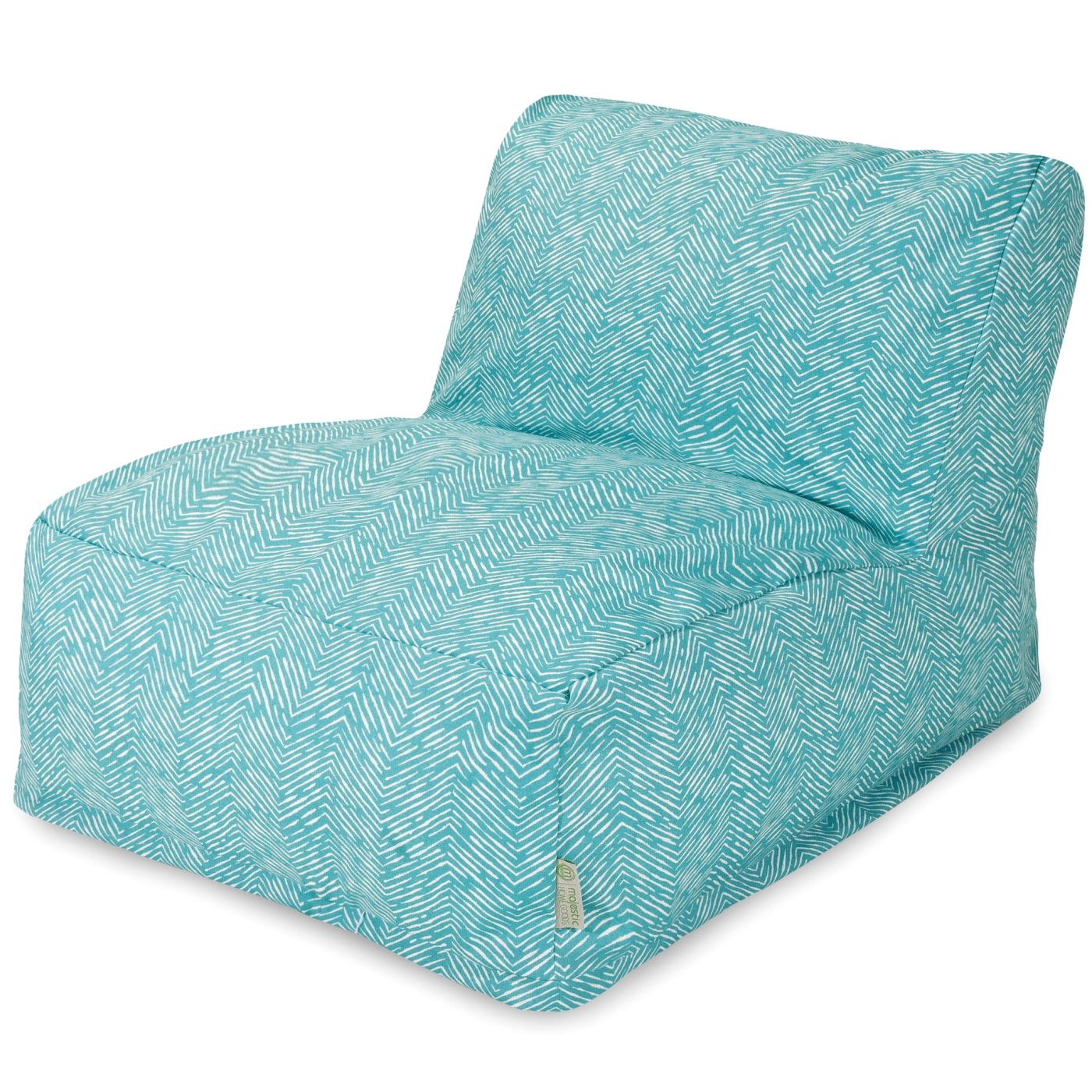 amazing deal on majestic home 85907220393 teal navajo bean bag chair lounger at contemporary. Black Bedroom Furniture Sets. Home Design Ideas