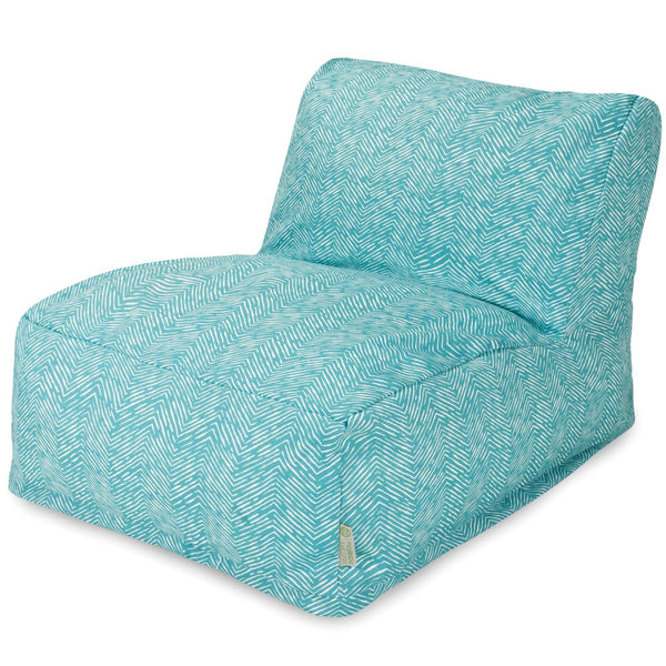 Majestic Home Teal Navajo Bean Bag Chair Lounger