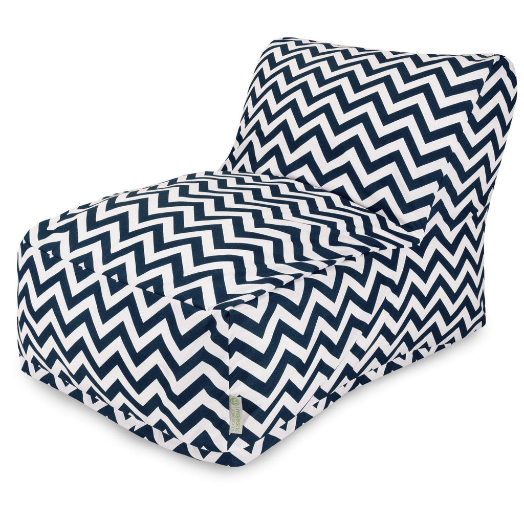 Navy Chevron Bean Bag Chair Lounger