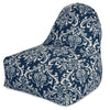 Navy Blue French Quarter Kick-It Chair Bean Bag