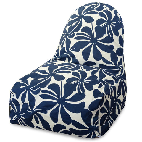 Navy Blue Plantation Kick-It Chair Bean Bag