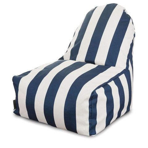 Navy Blue Vertical Stripe Kick-It Chair Bean Bag