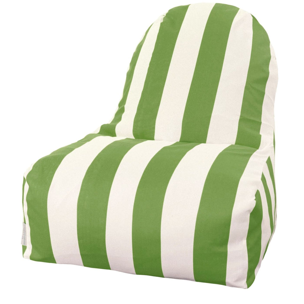 Sage Vertical Stripe Kick-It Chair Bean Bag