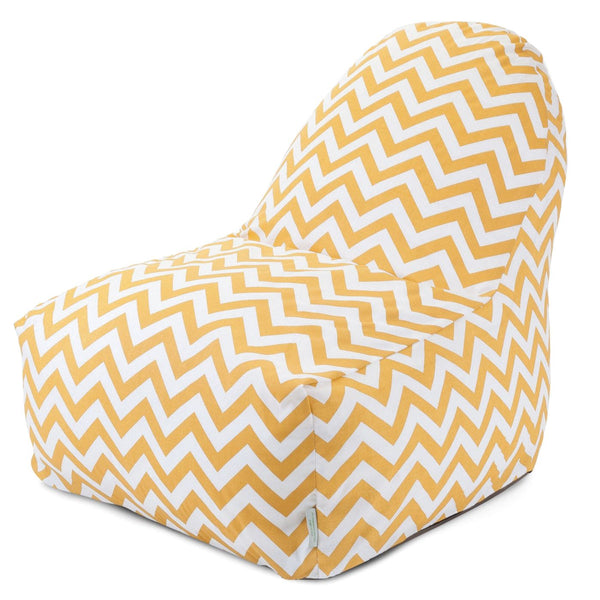 Bean Bag Chairs - Majestic Home Yellow Chevron Kick-It Chair | 85907227029 | 859072270290| $119.80. Buy it today at www.contemporaryfurniturewarehouse.com