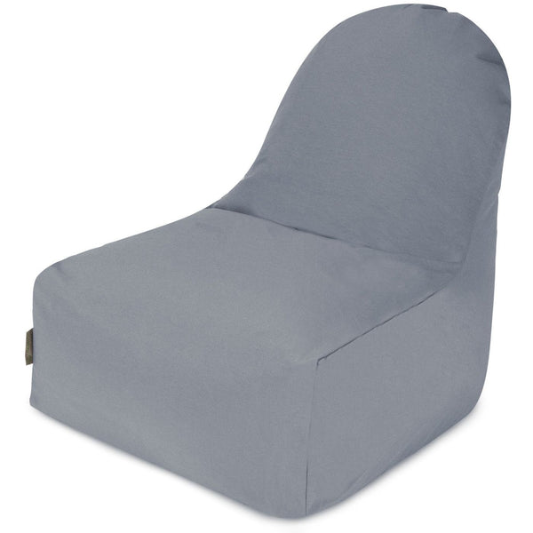 Gray Solid Kick-It Chair Bean Bag