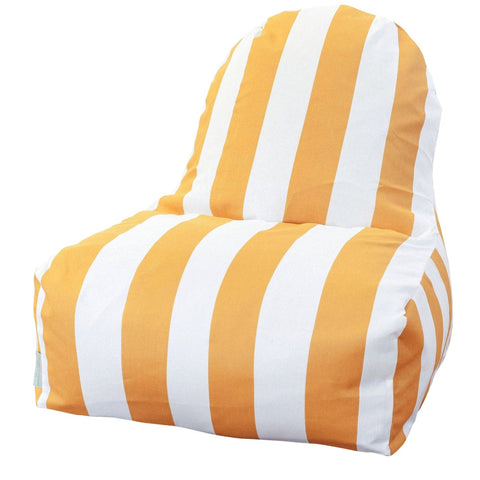 Yellow Vertical Stripe Kick-It Chair Bean Bag