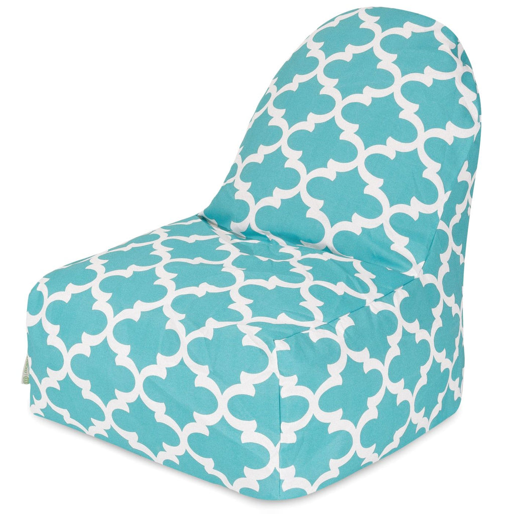 Teal Trellis Kick-It Chair Bean Bag