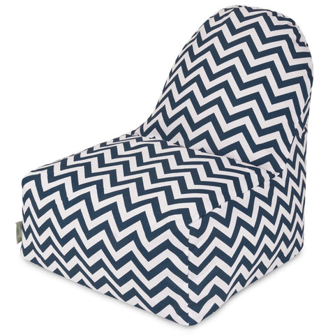 Navy Chevron Kick-It Chair Bean Bag