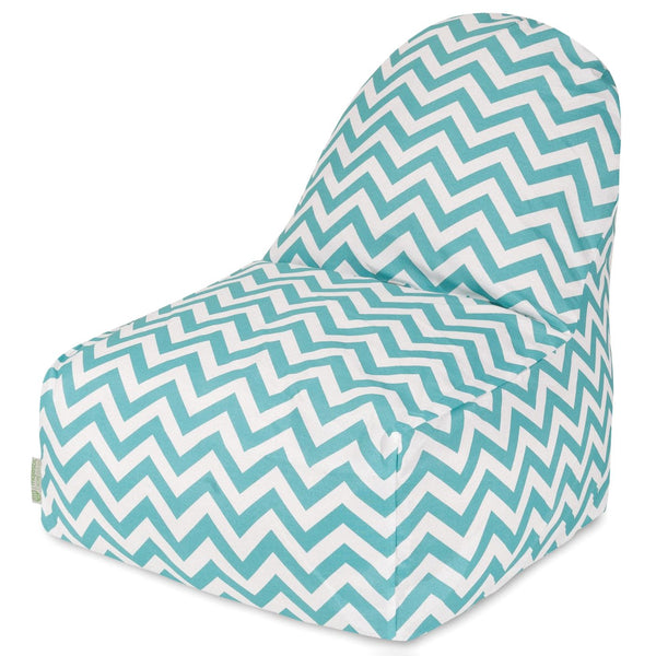 Teal Chevron Kick-It Chair Bean Bag