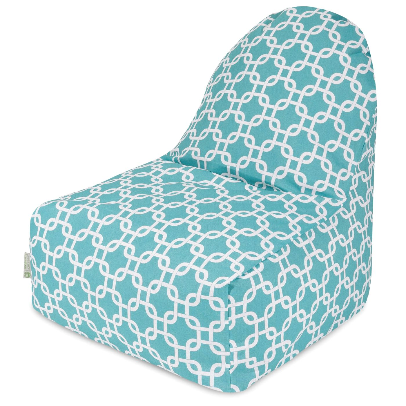 buy majestic home 85907251034 teal links kick it chair at contemporary furniture warehouse. Black Bedroom Furniture Sets. Home Design Ideas