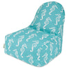 Teal Sea Horse Kick-It Chair Bean Bag