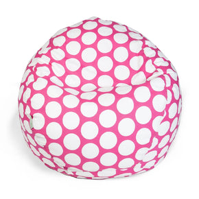 Hot Pink Large Polka Dot Small Classic Bean Bag