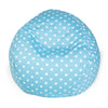 Aquamarine Small Polka Dot Classic Bean Bag