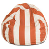 Burnt Orange Vertical Stripe Small Classic Bean Bag