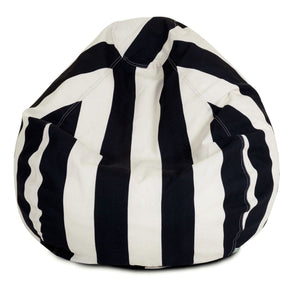 Black Vertical Stripe Small Classic Bean Bag