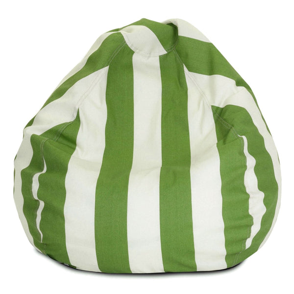 Sage Vertical Stripe Small Classic Bean Bag