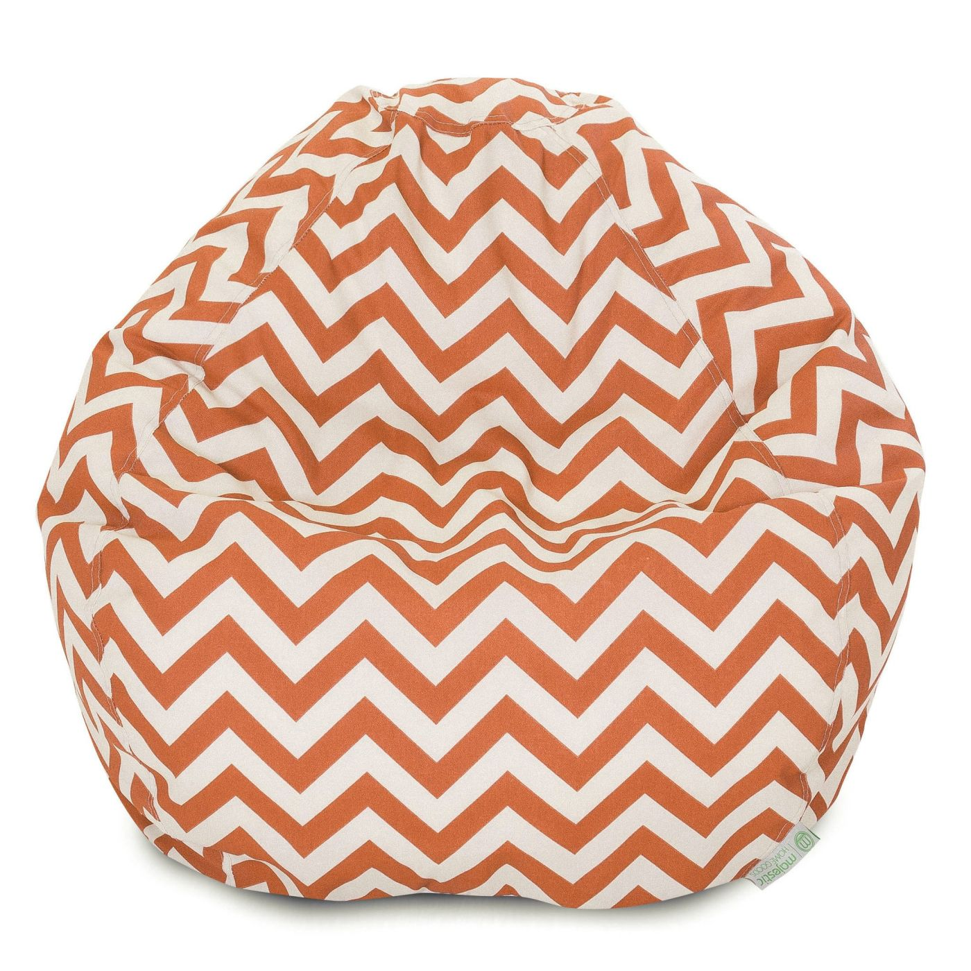 majestic home burnt orange chevron small classic bean bag at contemporary furniture warehouse. Black Bedroom Furniture Sets. Home Design Ideas