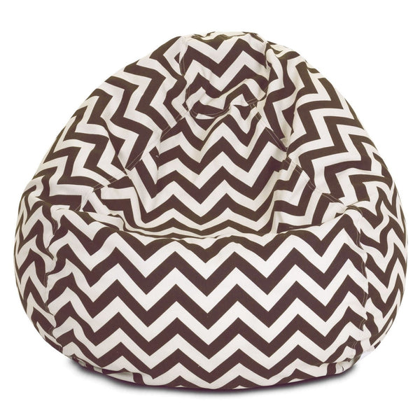 Chocolate Chevron Small Classic Bean Bag
