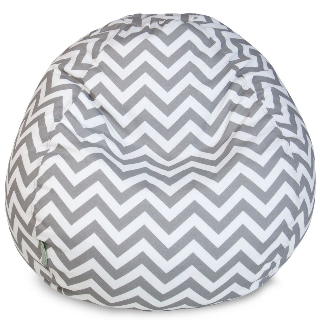 Gray Chevron Small Classic Bean Bag