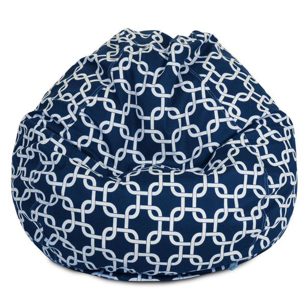 Navy Blue Links Small Classic Bean Bag