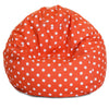 Orange Ikat Dot Small Classic Bean Bag